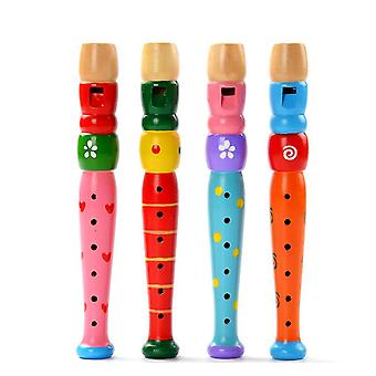 Colorful Wooden Trumpet Buglet Hooter Bugle Educational Toy (random Color)