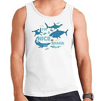 Pixar Löytää Nemo I'm Nice Shark Men's Vest