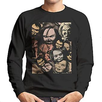 Chucky Scary Face Montage Men's Sweatshirt