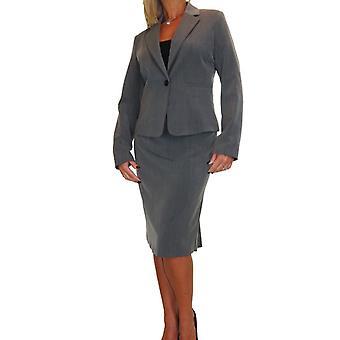 Frauen's Smart Voll gefüttert waschbar leicht 2 Stück Blazer Rock Anzug formalE Büro Event Business 10-18