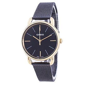 Casio Musta Dial Quartz Ltp-e412mgb-1a Ltpe412mgb-1a Naiset's Watch