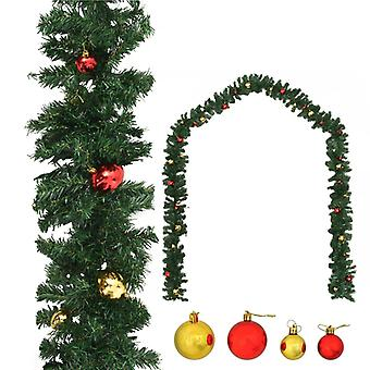 Julkrans dekorerad med bollar 5 m