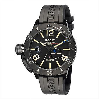 U-Boat 9015 Sommerso DLC Black Wristwatch