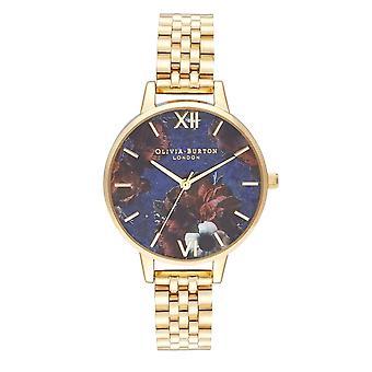 Olivia Burton Ob16sp13 Semi Precious Demi Lapis Lazuli & Gold Bracelet Ladies Watch