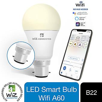 WiZ LED A60 Smart Bulb Wifi BC (B22) Warm White & Dimmable, 1 Pack
