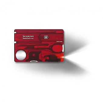 Victorinox SwissCard Lite LED (Jelly Red) - Jelly Red