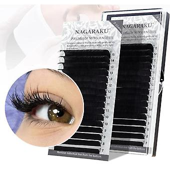 16rows/case Natural Synthetic Mink, Individual Eyelash Extension