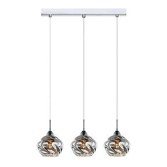 Hanghang hanghanger Chrome 3 Light met Chrome, Crystal Shade, E14