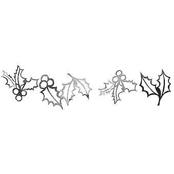 Silver Holly Garland - Décoration de Noel x 2m