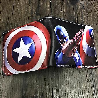 PU lederen Portemonnee Cartoon anime portemonnee - Captain America #839