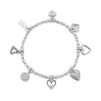 ChloBo SBMULC7 Silver Ideal Love Bracelet