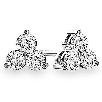 0.60 Boucles d'oreilles Carat Three Stone Diamond
