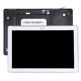 LCD-näyttö ja digitointi koko kokoonpano kehyksellä Asus ZenPad 10 Z300C / Z300CG P023, vihreä flex-kaapeliversio (valkoinen)