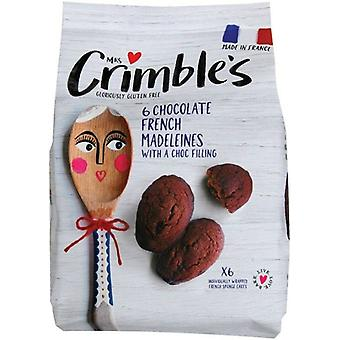 Mme Crimbles Choc avec Choc Filling Madelines 170g x6