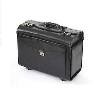 Pilot Black Travel Luggage Lawyer Suitcase Cabin Hand Trolley Bag On Wheels