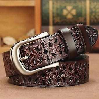 Genuine Leather Belts Second Layer Cowskin Vintage Pin Buckle Strap Jeans