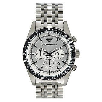 ארמני Ar6073 גברים & apos;s ספורטיבו כסף נירוסטה שעון
