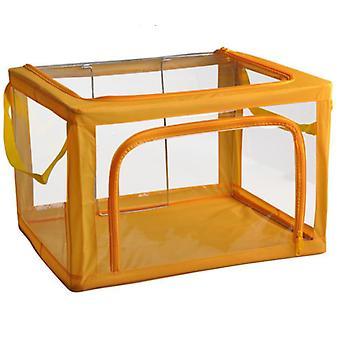 ملابس التخزين الشفاف الجديد مربع أكسفورد خزانة الملابس القماشية