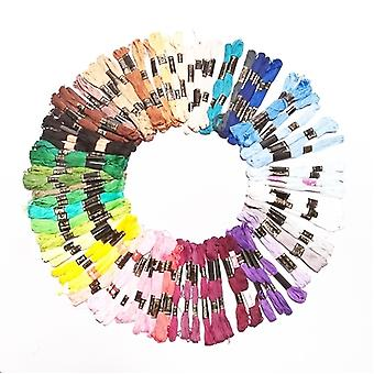100 piezas de colores mezclados hilo salinas hilo hilo 100% algodón - para la costura de bordado