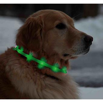 Led Licht Farbe Kragen für Hunde - wiederaufladbare Usb 70 Cm - grün