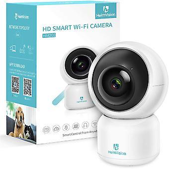 Caméra de sécurité à domicile WiFi HeimVision HM203 Indoor 1080P avec vision nocturne intelligente/détection audio/mouvement 2 voie, caméra IP sans fil pour bébé/animal/moniteur nanny, support Cloud/MicroSD