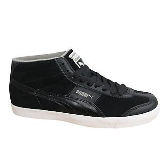 Puma Roma LP Hi Lodge Erkek Eğitmenler Bağcıklı Ayakkabı Siyah Deri 353830 02 X42B