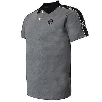 Sergio Tacchini Mens Foley Polo Shirt Taped Grey Top 38731 921
