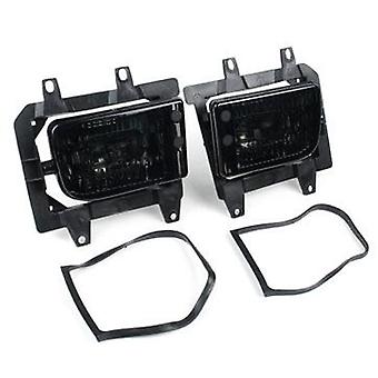 Bmw e30 front fog lights black tinted.
