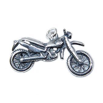 Motorrad Sterling Silber Charm .925 X 1 Biker Motorräder Charms - 8756