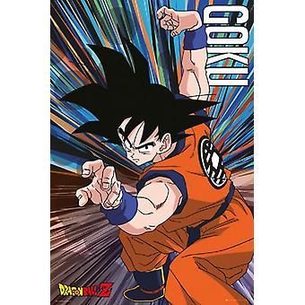 Dragon Ball Z Goku hypätä juliste Juliste Tulosta