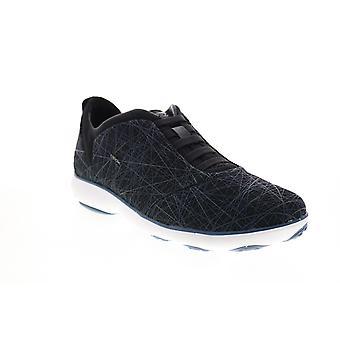 Geox U Nebula  Mens Blue Mesh Lace Up Euro Sneakers Shoes