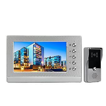 """7"""" Indoor Monitor Wired, 1000 Tvl Visuele Deur, Telefoon Deurbel Kit- Dagnacht"""