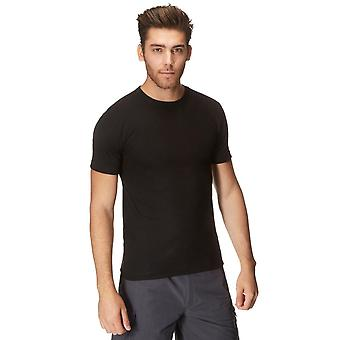 Peter Storm Hommes Thermal Crew Short Sleeve Baselayer Noir