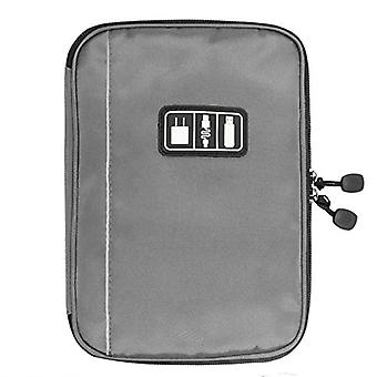 BAGSMART Electronic Organizer Travel Universal Cable Organizer Electronics Accessories Cases for Cable, Charger, Phone, USB, SD Card, Grey