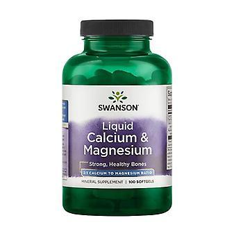 Flydende calcium og magnesium 100 softgels
