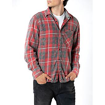 Replay Men's Shirt Checked Regular Fit