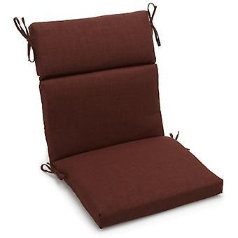 Coussin de chaise carrée extérieure en polyester de 18 pouces par 38 pouces - Cacao