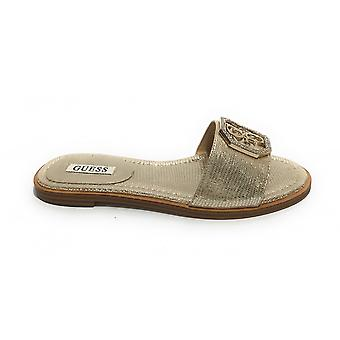 Shoes Guess Sandalo Botalia Platinum Leather Ds21gu37 Fl6btllea19