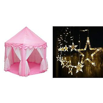 Portable Kids Toy Tipi Tent Ball Pool Princess Castle Play House Small House