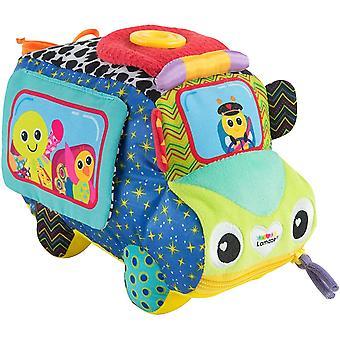 LAMAZE Freddie's Activity Bus Baby Toy, Plush Sensory Toy with Flaps