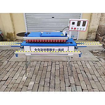 Automatisk kantbandningsmaskin med limning, trimning och ändskärning