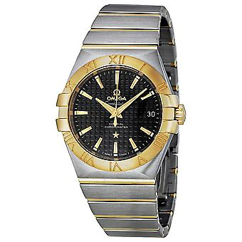 Omega Constellation Black Dial Stainless Steel and Yellow Gold Men's Watch 123.20.35.20.01.002
