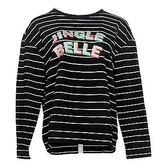 Ellen Tracy Women's Top Soft French Terry Fabric Black