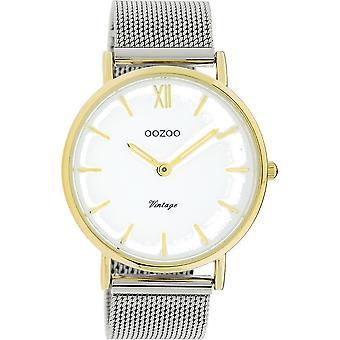 OOZOO Wristwatch Vintage Unisex – Silver/Gold C20116