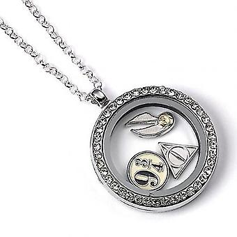Harry Potter Silver Plated Charm Locket Necklace