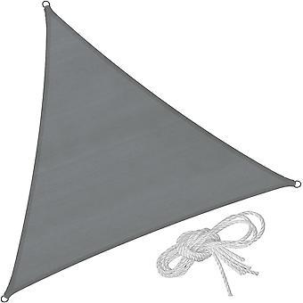 tectake Solsejl trekantet, grå