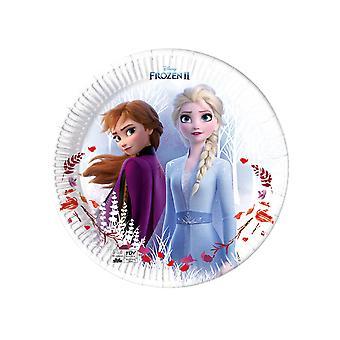 8 Assiettes en carton Frozen La Reine des Neiges 2 23 cm