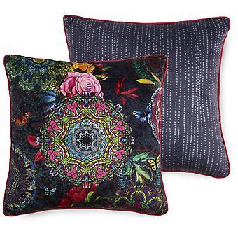 pillow sum 48 x 48 cm polyester dark grey