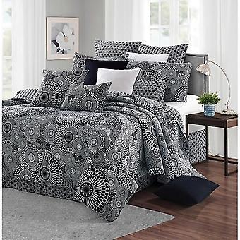 Spura Home Patchwork Kyoto Black & White Printed Quilt Set