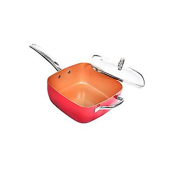 Saucepan Non Stick Deep Fry Steamer Lid Stainless Steel Handle